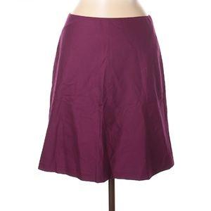 DKNY Purpled Burgundy A-Line Skirt